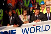 Beam Signed By President Obama Installed at World Trade Center 1